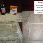 Baking soda, Hydrogen Peroxide grout cleaner