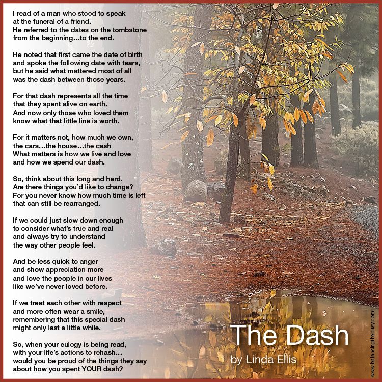 The dash by linda ellis