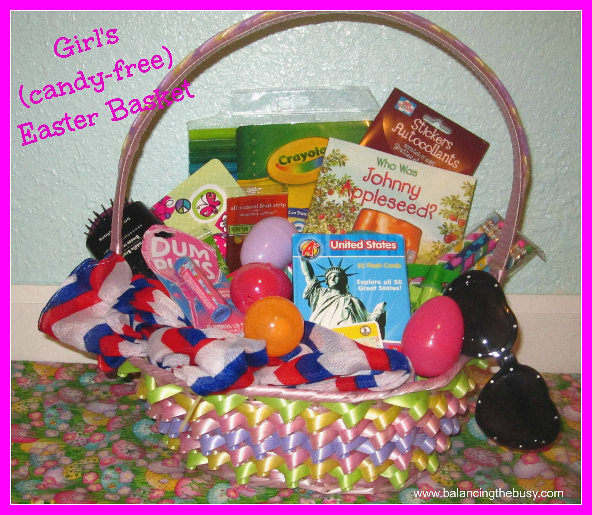 Easter Basket With Candy Candy Free Easter Basket