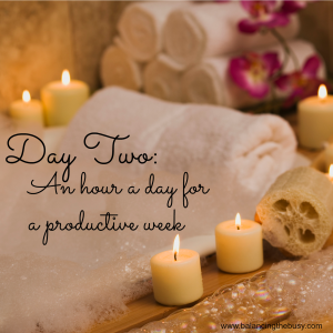 Day two: An hour a day for a productive week