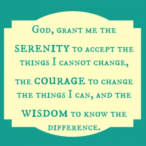 The Serenity Prayer- pin it, print it, share it, use it