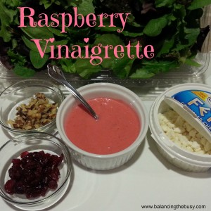 Homemade Raspberry Vinaigrette Dressing