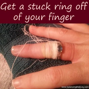 Get a stuck ring off of your finger